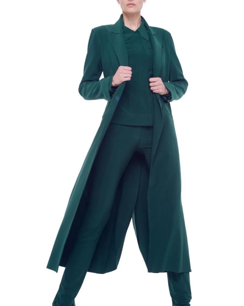 Norma Kamali Double Breasted Coat Dress