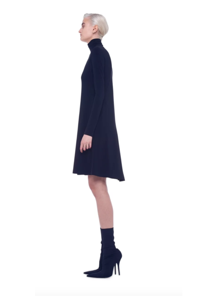 Norma Kamali Long Sleeve Turtle Swing Dress