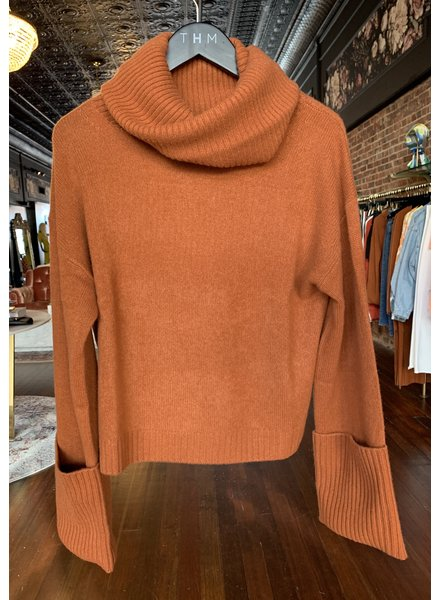 NAADAM Oversized Turtleneck Cropped Pullover