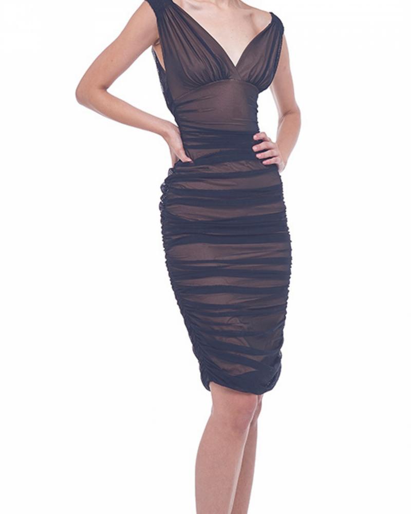Norma Kamali Tara Dress Mesh