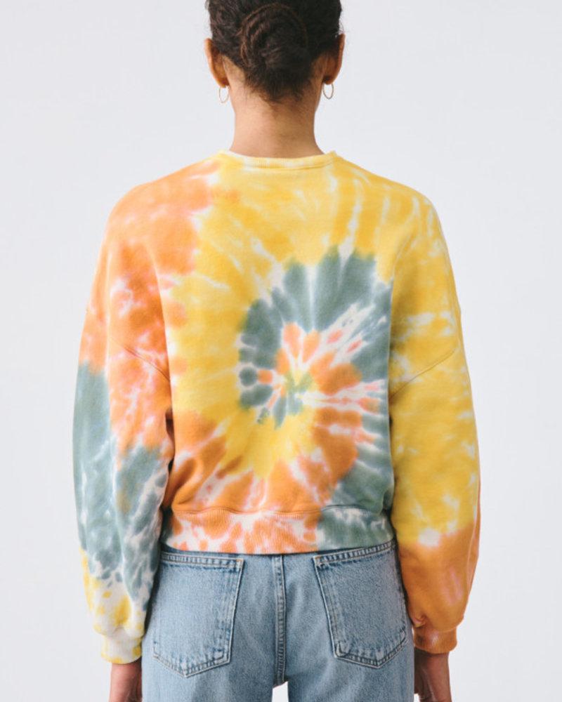 Agolde Balloon Sleeve Tie Dye Sweatshirt
