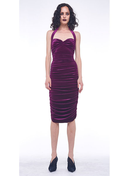 Norma Kamali Bill Dress Velvet