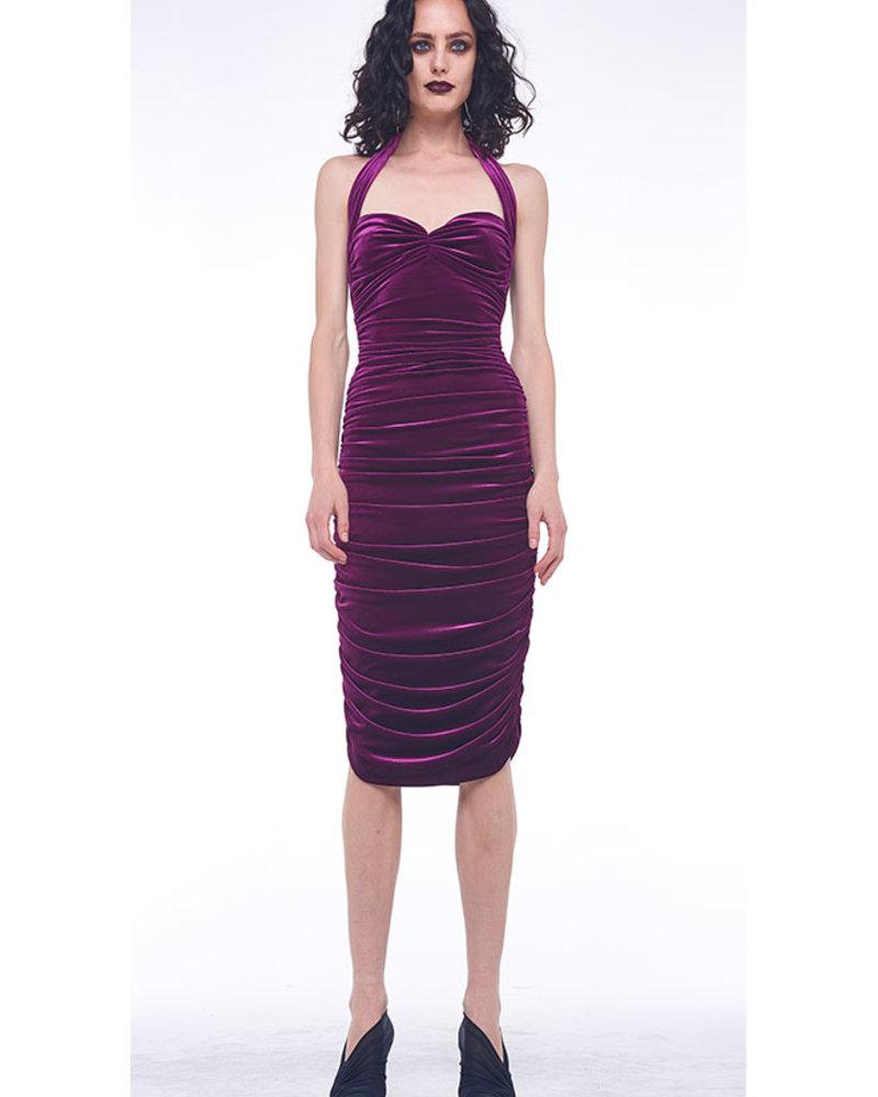 Norma Kamali Bill Dress Velvet