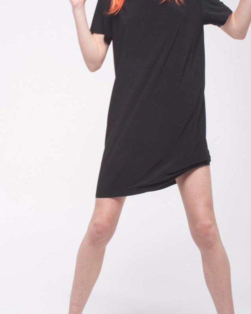 Norma Kamali Short Sleeve Boxy Dress To Knee