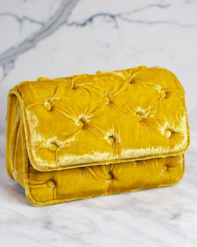 Benedetta Bruzziches Carmen Velvet Tufted Bag