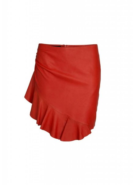 Designers Remix Erin Wrap Ruffle Skirt/Leather