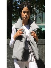 Norma Kamali Sleeveless Sleeping Bag Vest Short
