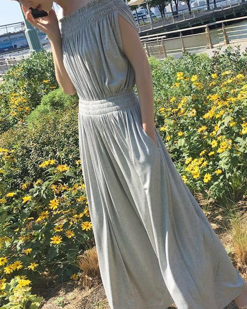Norma Kamali Sleeveless Peasant Jumpsuit