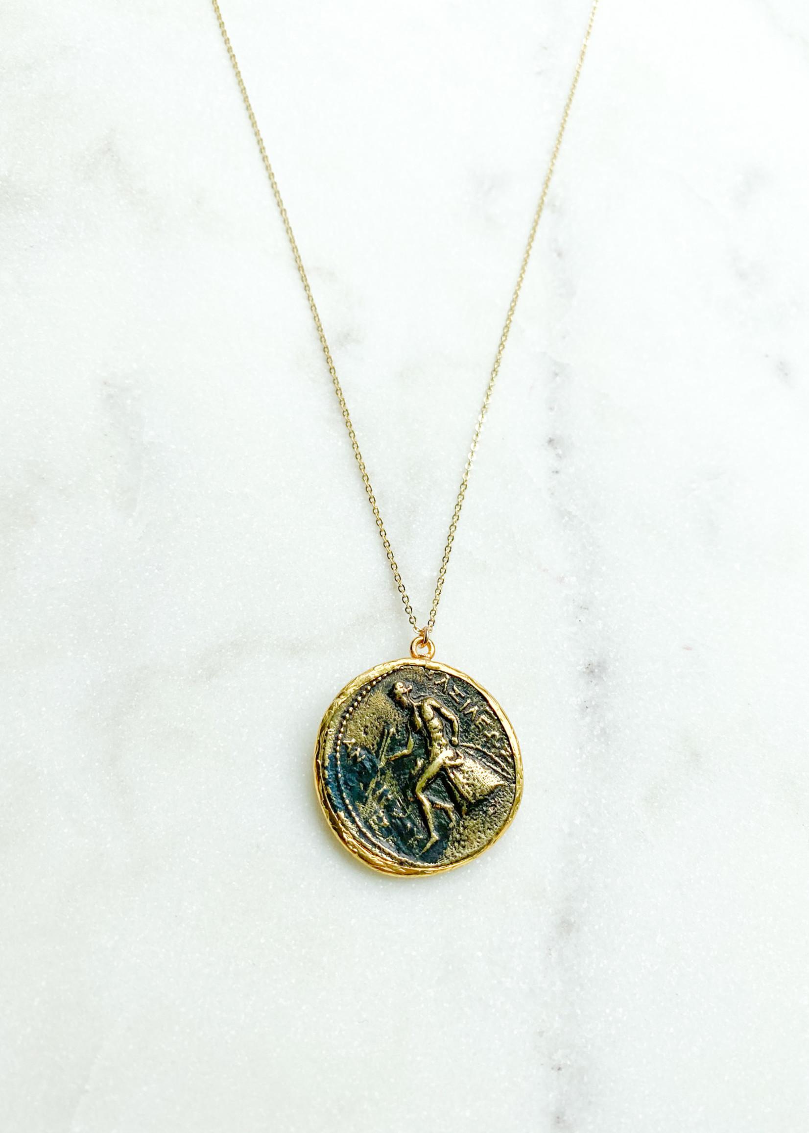 hula sue caesar coin necklace