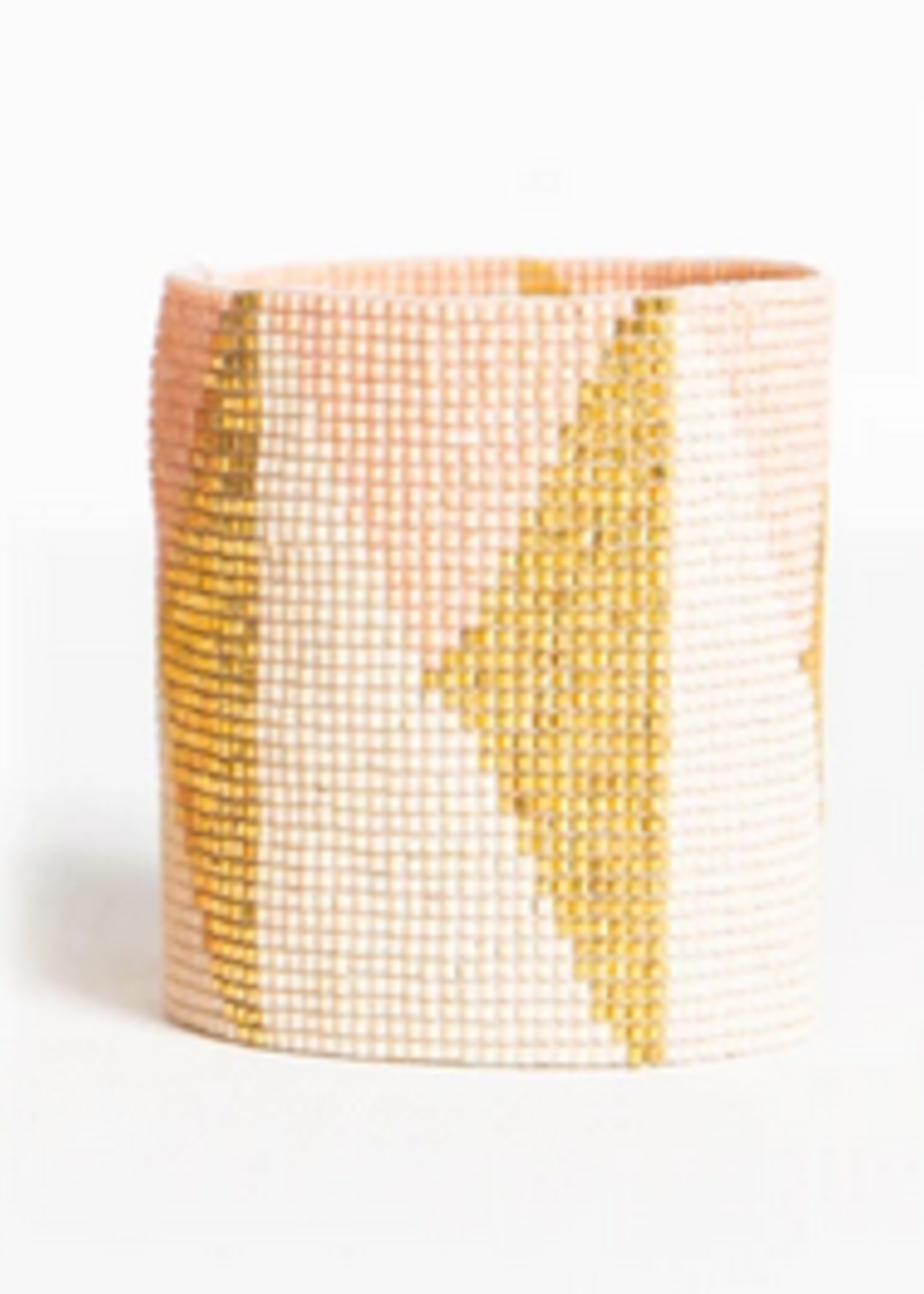 hula sue blush & gold triangle cuff