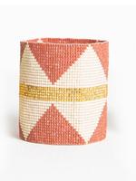 hula sue terra & gold stripe cuff