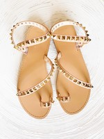 hula sue Lexi gold stud sandal