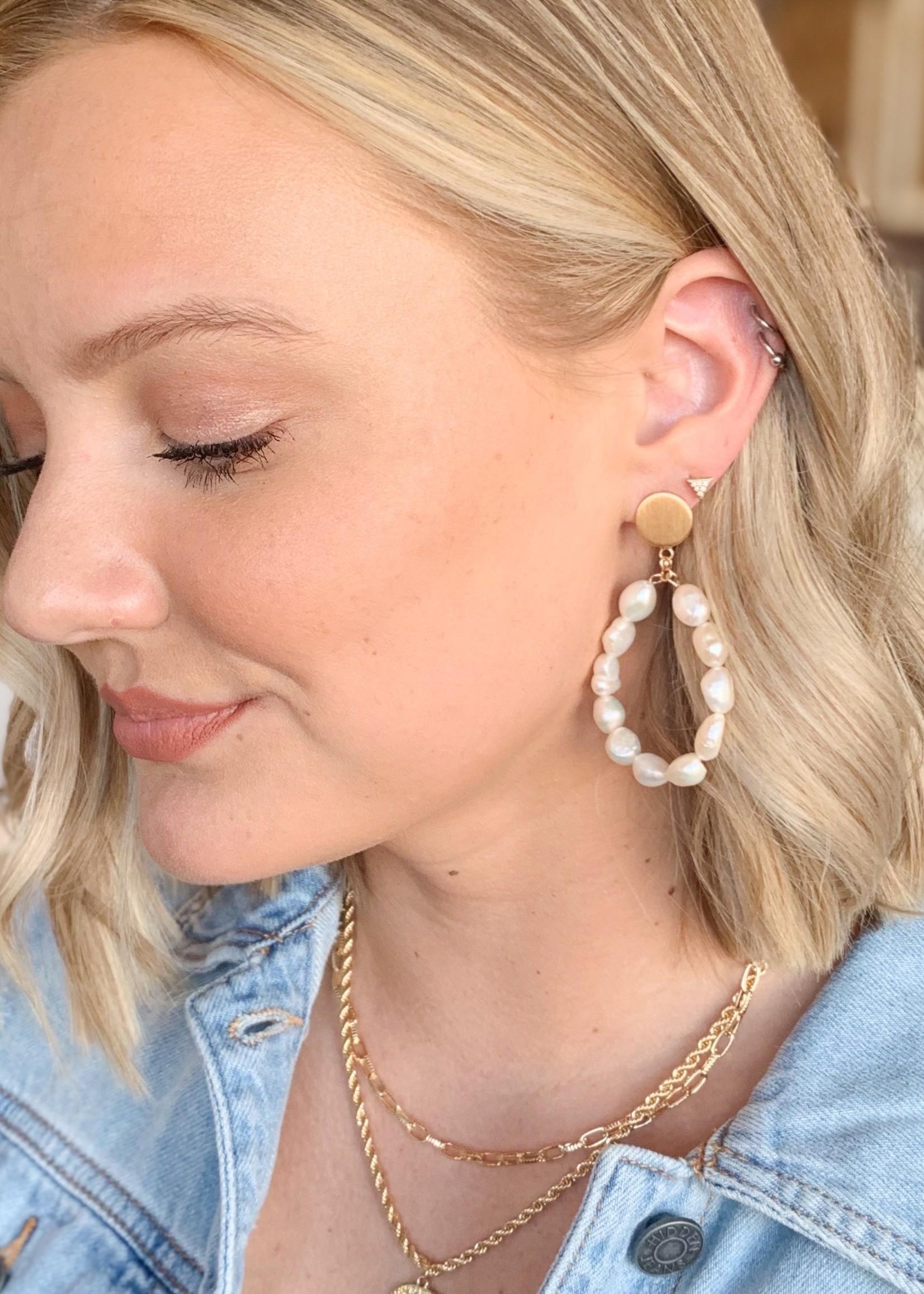 hula sue freshwater pearl drop earrings