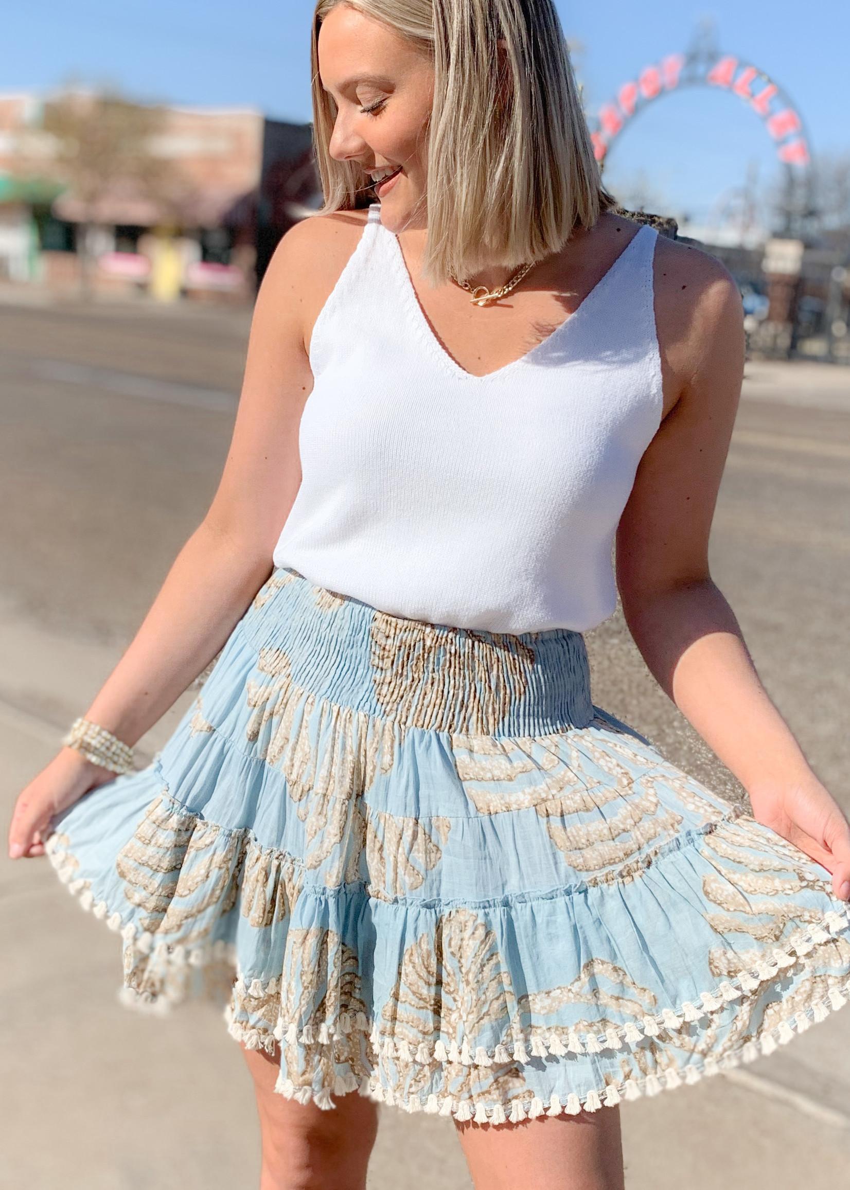 hula sue isla ruffle skirt