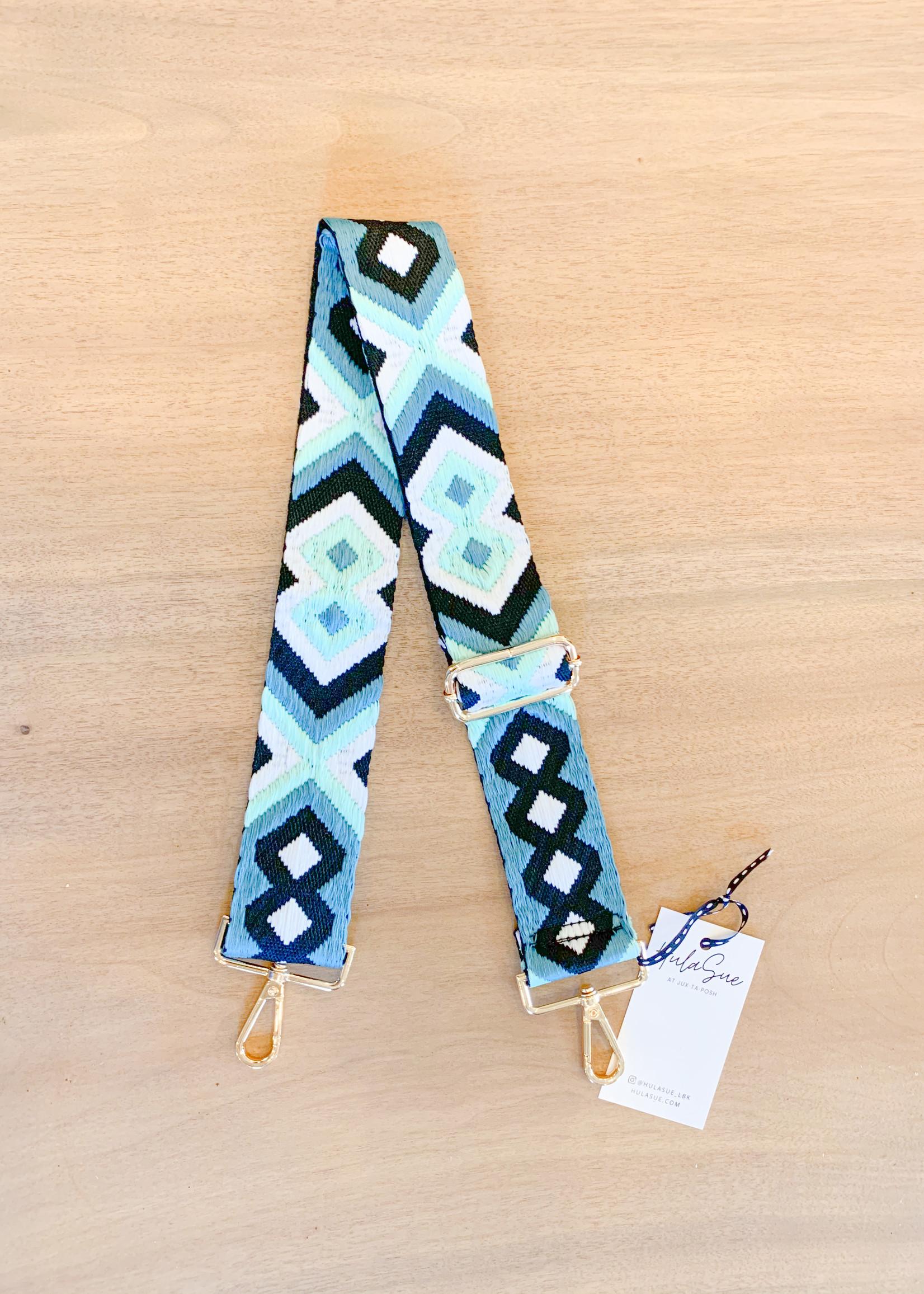 hula sue aztec strap - cream/sea