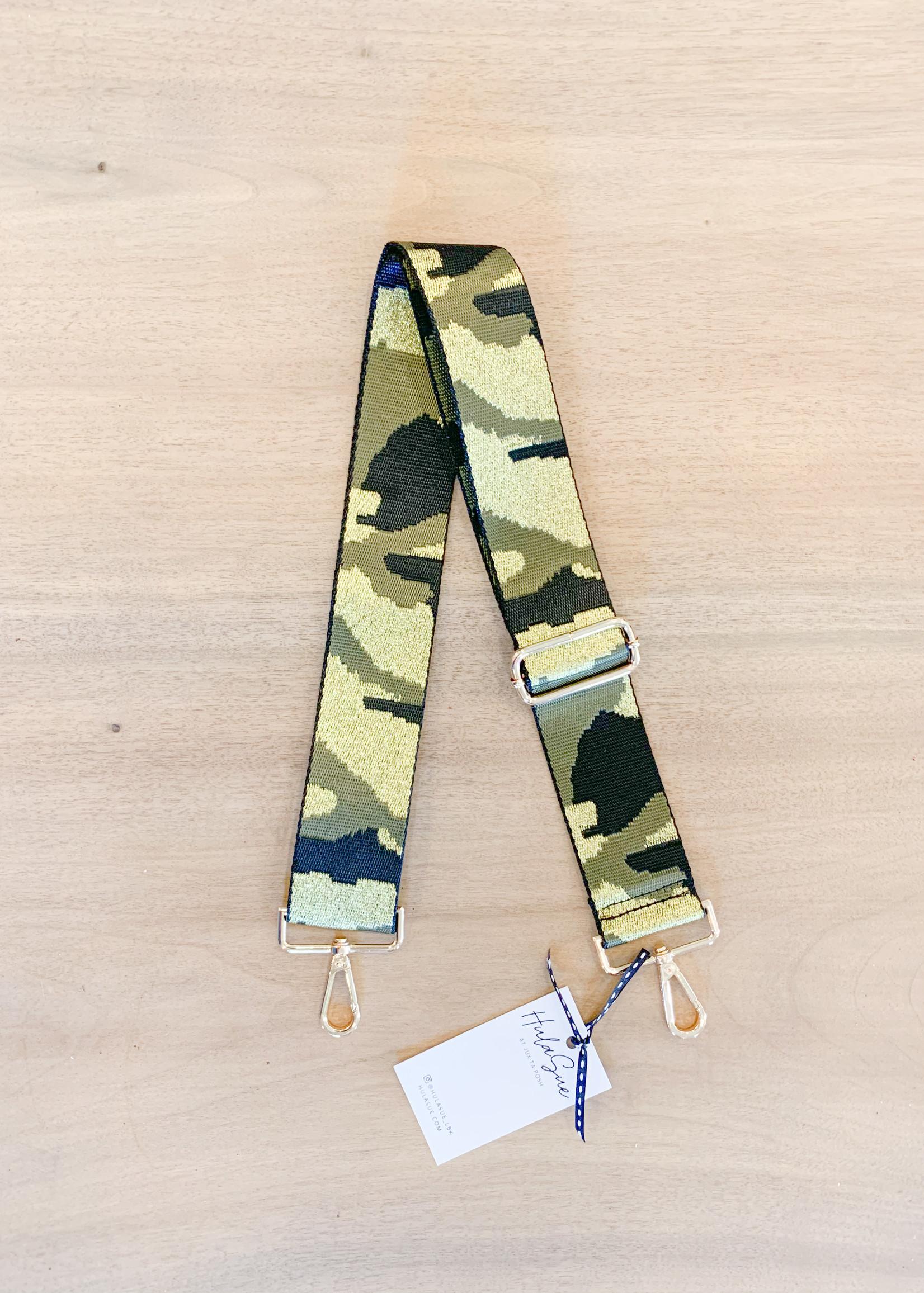 hula sue purse strap blk/army camo