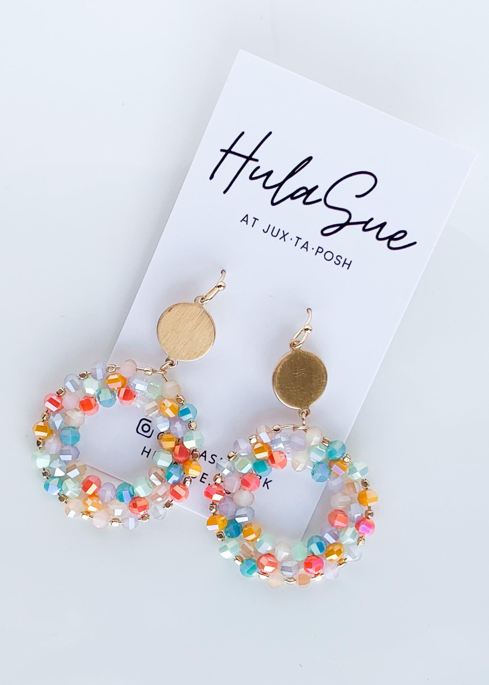hula sue shades of summer beaded earrings