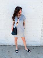 hula sue mason tshirt dress - grey