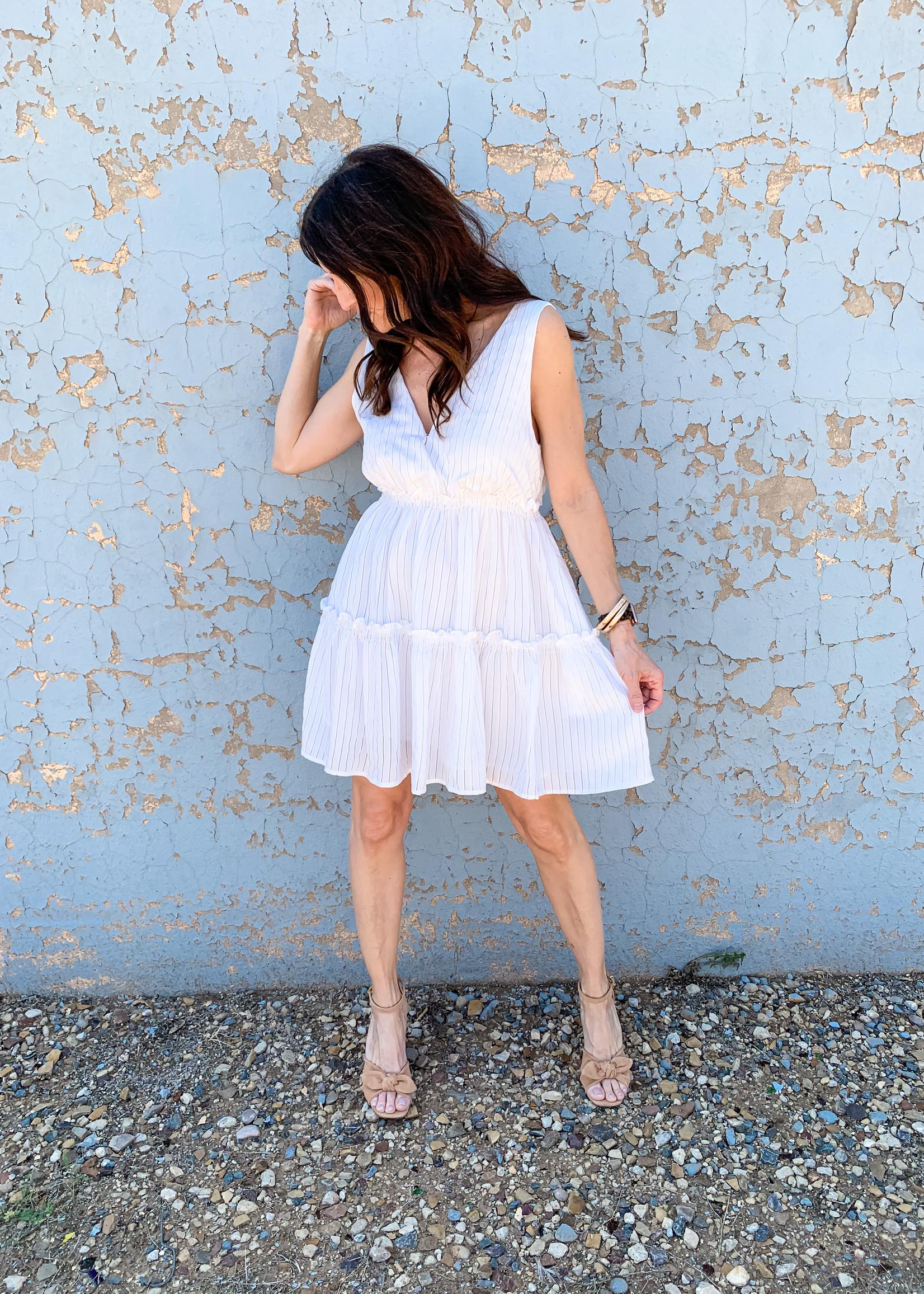 hula sue tiered dress - white