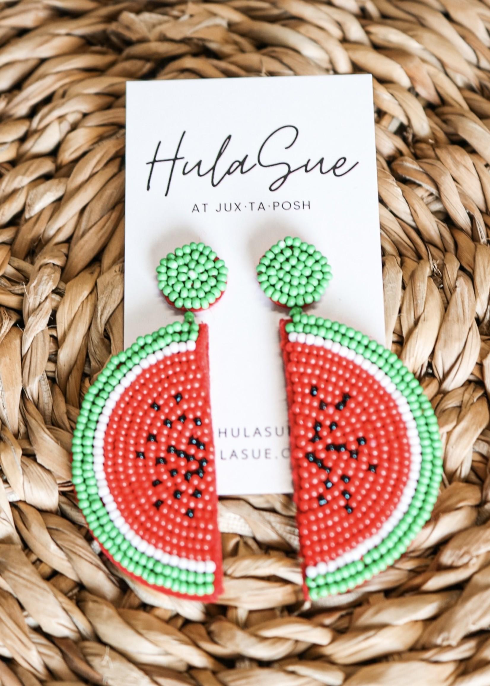 hula sue watermelon earrings