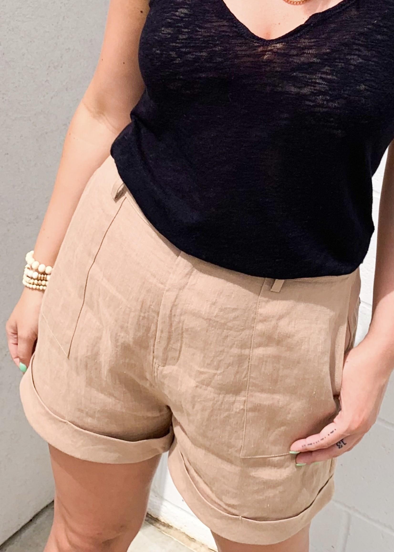 hula sue Laney shorts - taupe