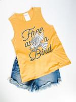 hula sue free as a bird tank - marigold