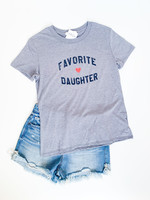 hula sue favorite daughter tee - grey
