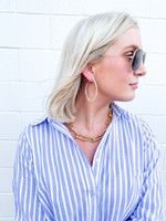 hula sue lucca hoops - ivory