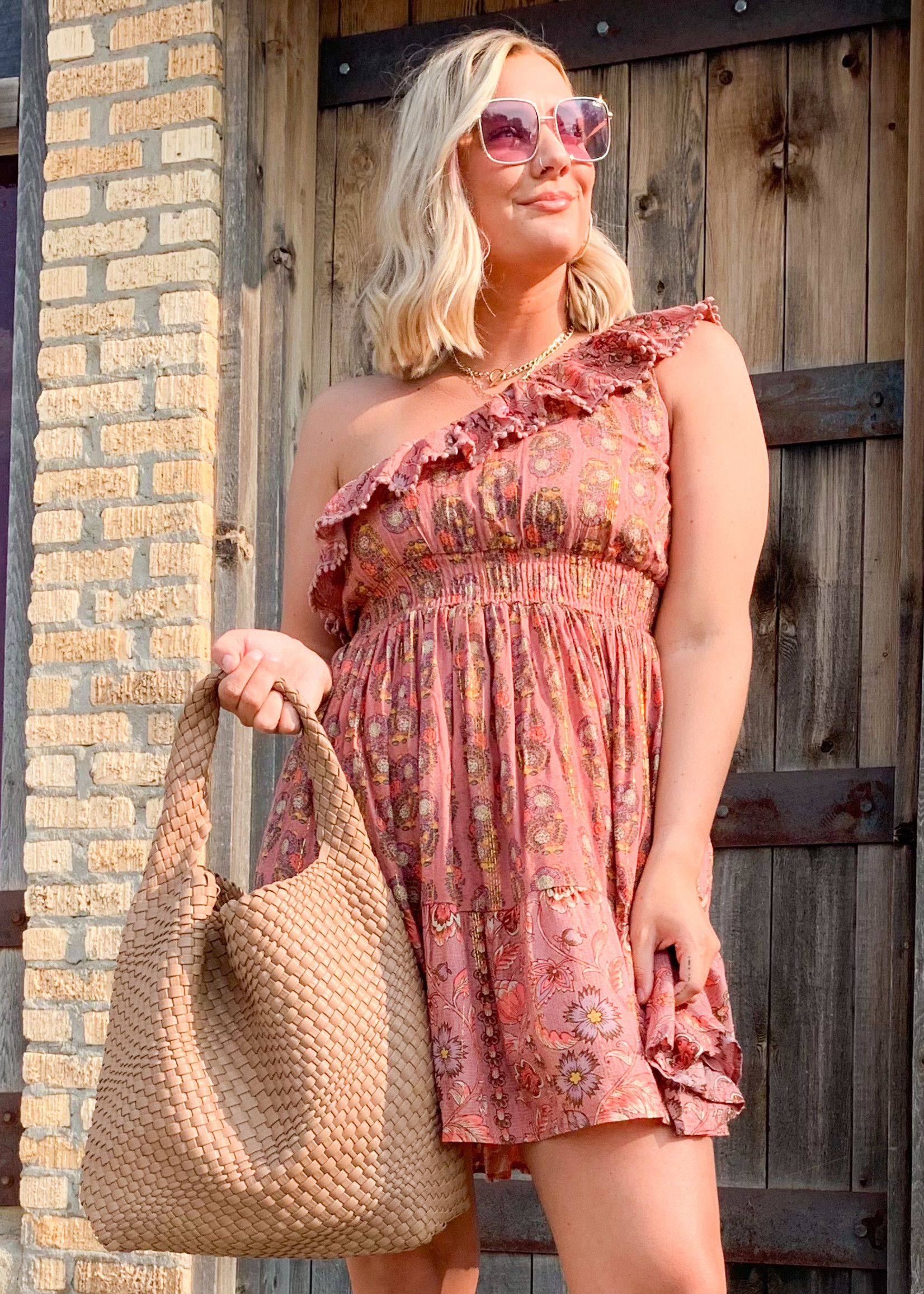 hula sue just because one shoulder dress