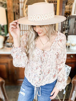 hula sue in the fields floral top