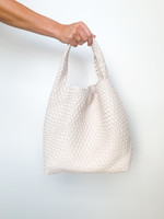 hula sue woven sling bag - stone