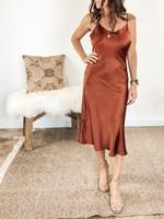 hula sue chelsea slip dress - copper