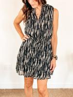 hula sue gweneth dress - black print