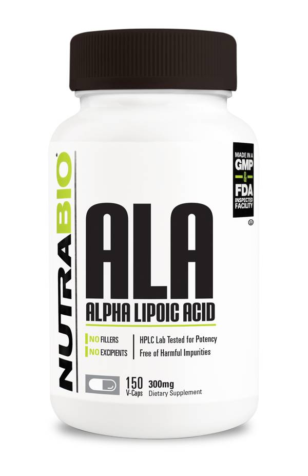 Nutrabio Alpha Lipoic Acid 300mg - 150 capsules