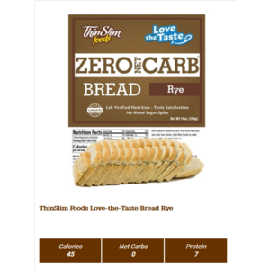 Thin Slim Foods Love-The-Taste Thin Slim Bread