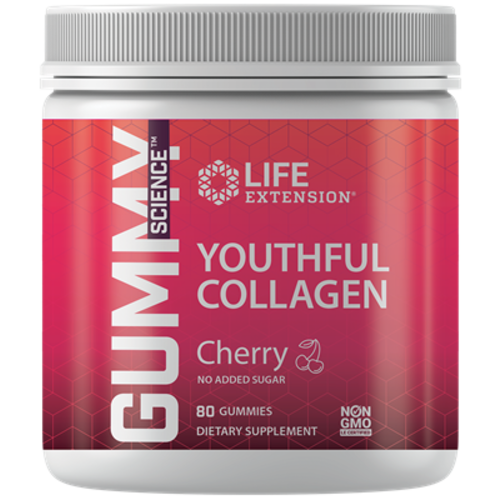 Life Extension Gummy Science Youthful Collagen Cherry