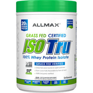 Allmax Nutrition .9lb Grass Fed Iso Tru Whey Isolate Protein