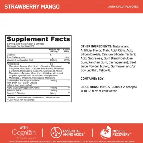 Optimum Nutrition Amino Energy Advanced 20 Serving