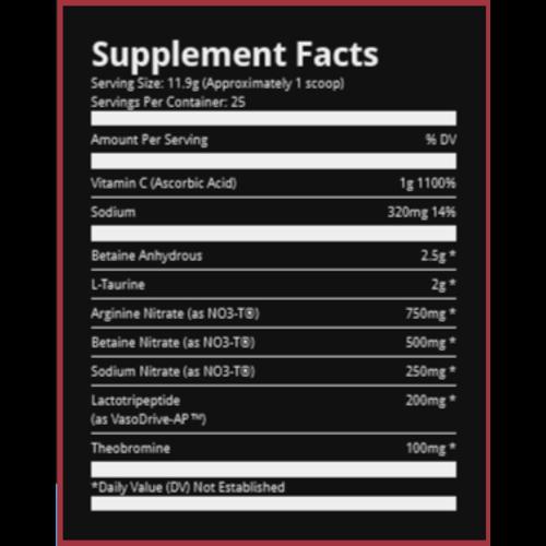 Ryse Supplements Ryse Blackout Pump