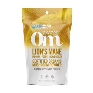 Om Mushroom Superfood Lion's Mane Organic Mushroom Superfood Powder