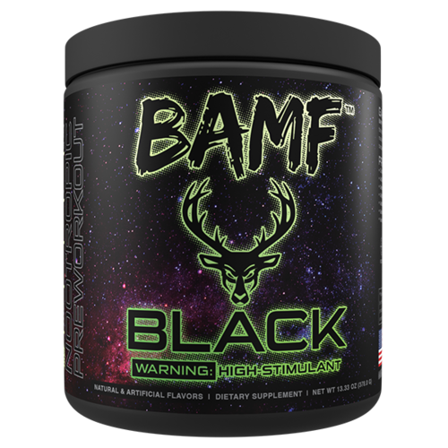 Bucked Up BAMF Black High Stimulant Nootropic Pre-Workout