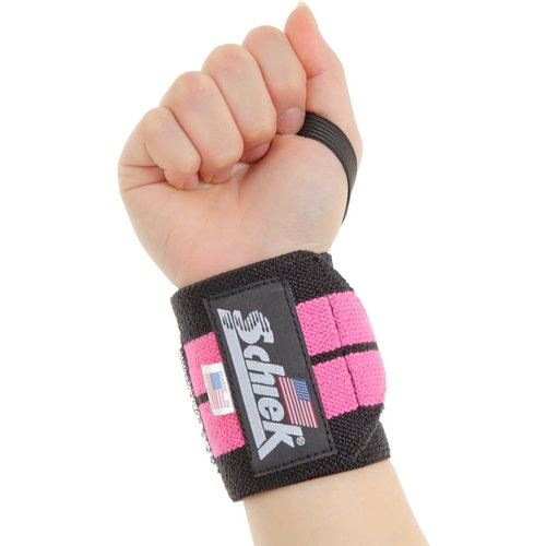 Schiek Schiek Pink Line Wrist Wraps