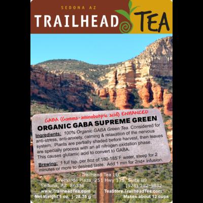 Tea from China GABA Organic Supreme Grade Green Tea