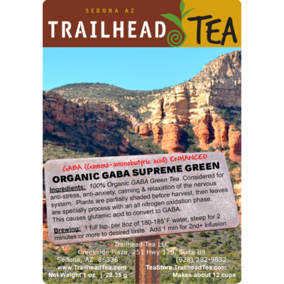 Tea from China GABA Organic Supreme Grade Green