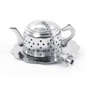 "Teaware Tea Egg ""Teapot"" with Drip Catcher"