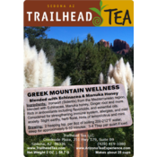Herbal Blends Greek Mountain Wellness from Trailhead Tea, Sedona Arizona's Full-Leaf Tea Department Store