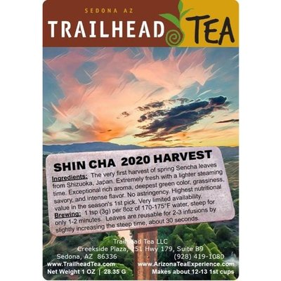 Tea from Japan ShinCha, 2020 Season (First-Pick) Green Tea from Trailhead Tea, Sedona Arizona's Full-Leaf Tea Department Store