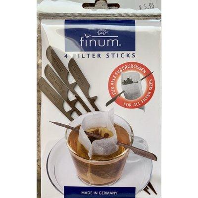 Teaware Sticks for Paper Tea Filter; pkg 4