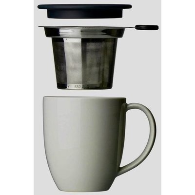 Teaware Brew-In-Mug, 16-oz (color BLACK GRAPHITE  with tea strainer & lid) from Trailhead Tea, Sedona Arizona's Full-Leaf Tea Department Store