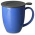 Teaware Brew-In-Mug, 16-oz (color BLUE  with tea strainer & lid) from Trailhead Tea, Sedona Arizona's Full-Leaf Tea Department Store
